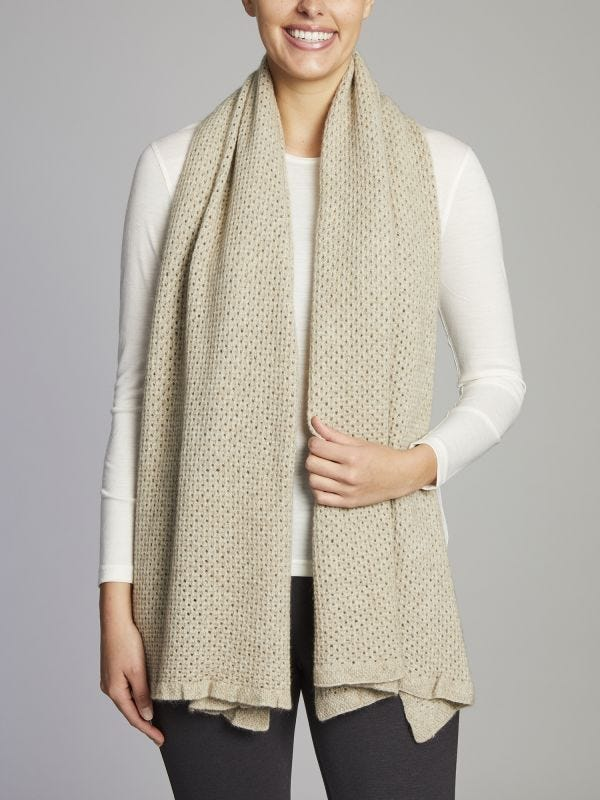 Mansfield Loose Knit Merino Wool Wrap