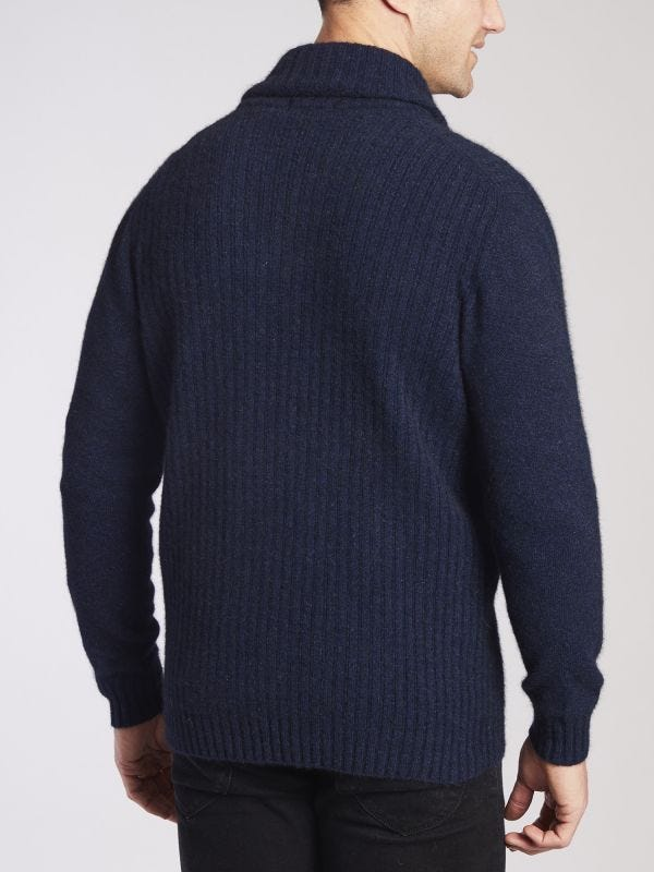 Merricks Shawl Neck Merino Wool Jumper