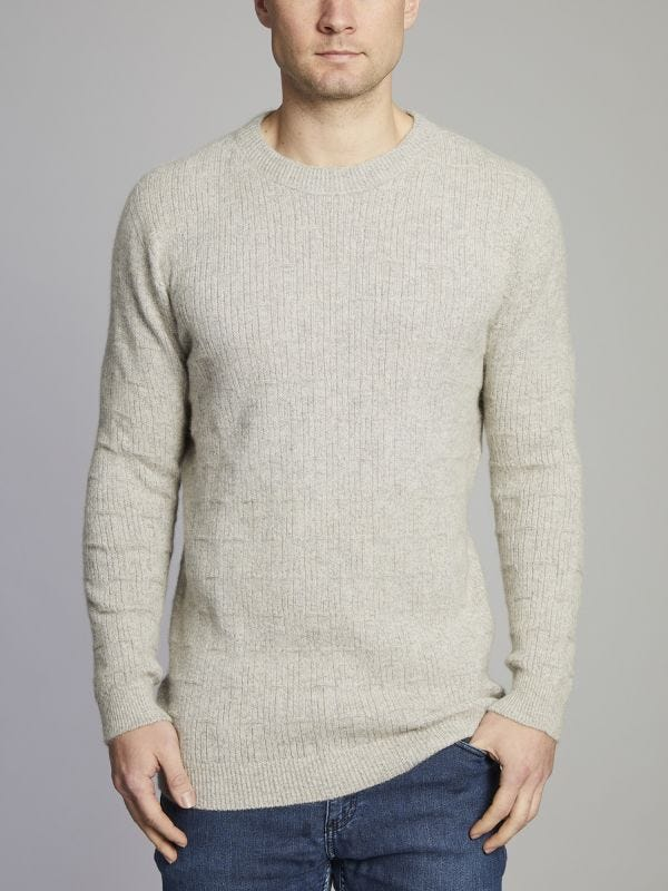 Dunkeld Low Crew Neck Merino Wool Jumper