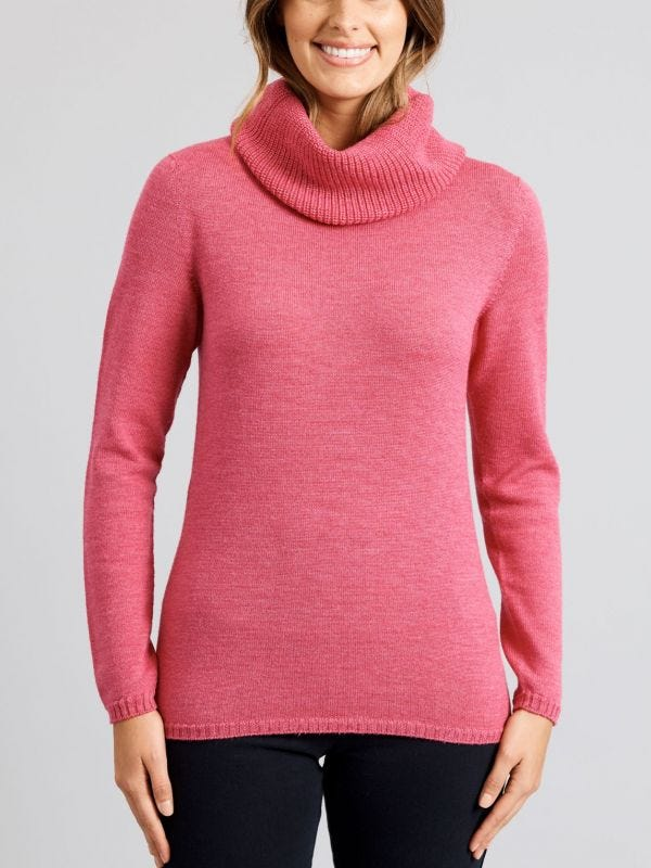 Toronto Merino Wool Cowl Neck Knit Jumper