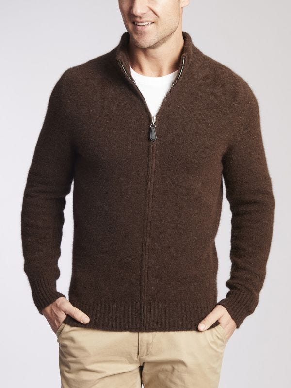 Rennie Full Zip Merino Wool Jumper