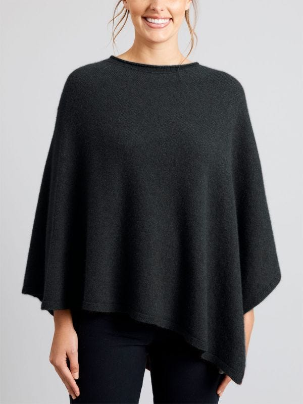 Perth Merino Wool Poncho