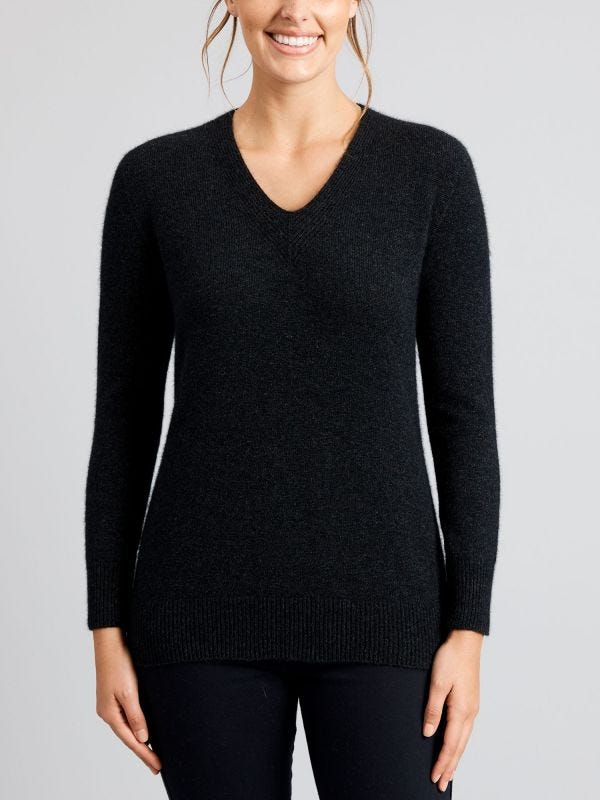 Millicent V-Neck Merino Wool Jumper