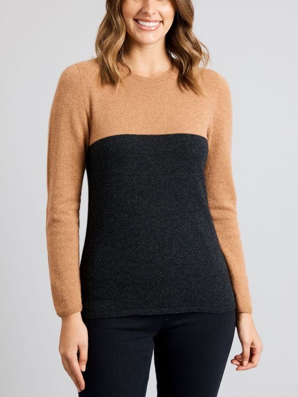 Wallaroo Two Tone Merino Wool Jumper