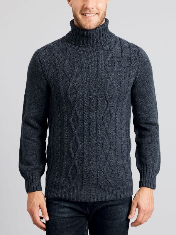 Matheson Break Away Cable Knit Jumper