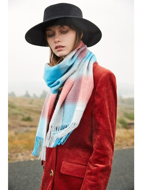 ] The Plaid Wool Scarf - Merino and Co