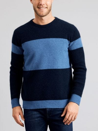 Lima Weekend Stripe Merino Wool Crew Jumper
