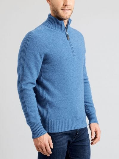 Rennie Half Zip Merino Wool Jumper